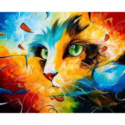Комплект рисуване по номера 30x40 см -Котешки поглед-Наушад Вахид Ms9481
