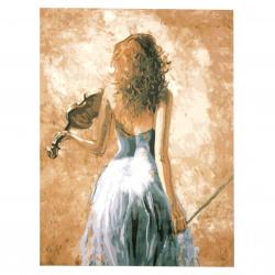 Комплект рисуване по номера 30x40 см -Цигуларка Ms7321