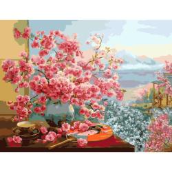 Set pictură după cifre 30x40 cm - peisaj japonez Ms7478