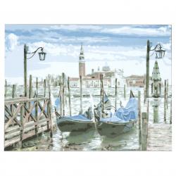 Set pictură după cifre 30x40 cm - Port de pescuit Ms9505