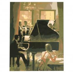 Set de pictură după cifre 30x40 cm - Pianistul Ms9148