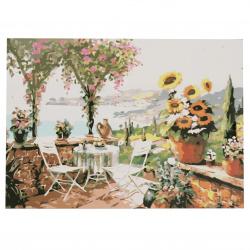 Set pictură după cifre 30x40 cm - Summer Garden Q1232