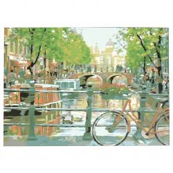 Set pictură după cifre 30x40 cm - Amsterdam Ms9306