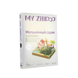 3D пъзел ZILIPOO от пенокартон с жива градина 25x19x16 см -Ферма с вятърна мелница -23 части