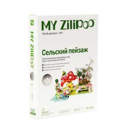 3D пъзел ZILIPOO от пенокартон с жива градина 25x19x11 см -Селски пейзаж -34 части