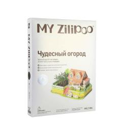 3D пъзел ZILIPOO от пенокартон с жива градина 27.5x19.5x14.5 см -Любима градина -22 части