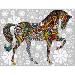 Σετ ζωγραφικής με αριθμούς 30x40 cm - Μωσαϊκό αλόγου Ms9830