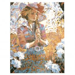 Set pictură după cifre 30x40 cm -Fată frumoasă Ms9682
