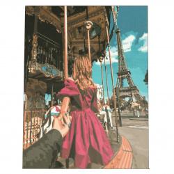 Комплект рисуване по номера 30x40 см -Следвай ме - Париж Ms9757