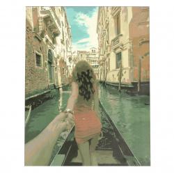 Set pictură după cifre 30x40 cm - Urmează-mă - Veneția Ms9764