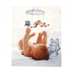 Комплект рисуване по номера 30x40 см -Бебешка емоция Ms7277