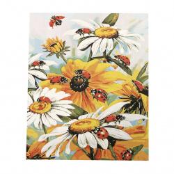 Комплект рисуване по номера 30x40 см -Маргаритки с калинки Ms7380
