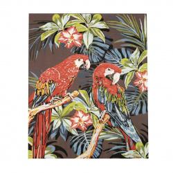Комплект рисуване по номера 30x40 см -Цветни папагали Ms7397
