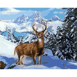 Комплект рисуване по номера 30x40 см - Самотния елен  Ms9090