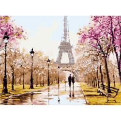Комплект рисуване по номера 40x50 см -Улицата на влюбените Ms7230