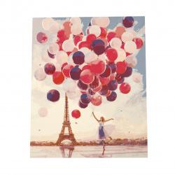 Σετ ζωγραφικής με αριθμούς 40x50 cm - Μπαλόνια στο Παρίσι Ms7544