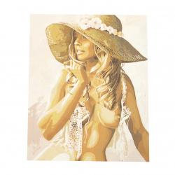 Комплект рисуване по номера 40x50 см -Женска красота Ms7582