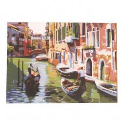 Комплект рисуване по номера 40x50 см -Романтична Венеция Ms8061