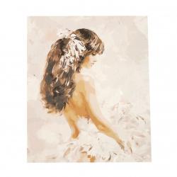 Σετ ζωγραφικής με αριθμούς 40x50 cm -Νιότη σε λευκό Ms8075
