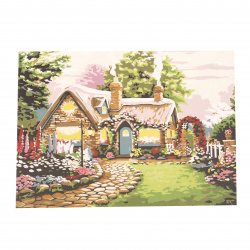 Σετ ζωγραφικής με αριθμούς 40x50 cm - Σπίτια στο δάσος Ms8266