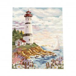Комплект рисуване по номера 40x50 см -Къщичка до фара Ms8272