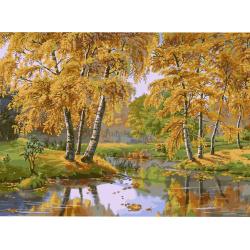 Σετ ζωγραφικής με αριθμούς 40x50 cm - Φθινοπωρινό τοπίο Ms8478