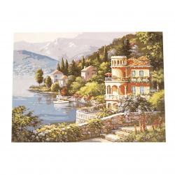 Комплект рисуване по номера 40x50 см -Къща край езерото Ms8507