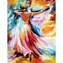 Комплект рисуване по номера 40x50 см -Влюбени в танца Ms8632