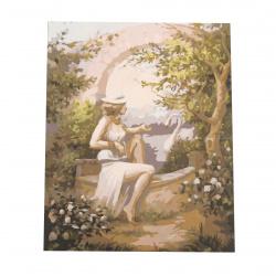 Комплект рисуване по номера 40x50 см - Оптическа илюзия Ms9113