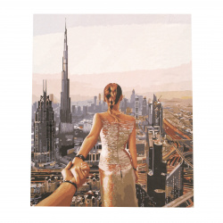 Комплект рисуване по номера 40x50 см -Следвай ме -Дубай Ms9760