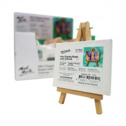 Мини статив-триножник дървен 115 мм с платно с подрамка 80x100 мм MM Mini Display