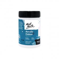 Акрилна боя полумат Mont Marte Studio Acrylic Paint 300мл - Titanium White