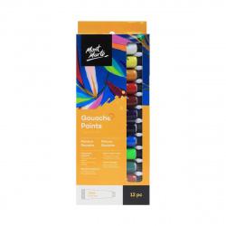 Комплект гваш бои Mont Marte 12 цвята x 12 мл