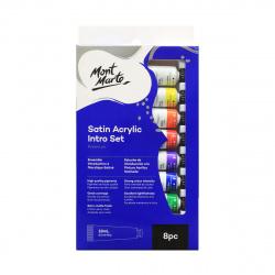 Комплект акрилна боя сатен Mont Marte Satin Intro Set 8 цвята x 18 мл