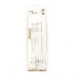 Комплект фини четки от синтетични влакна -6 броя № 00