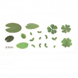 Самозалепващи стикери за вграждане в епоксидна смола за ръчно рисуван ефект с напластяване 145x64 мм водно растение -18 броя
