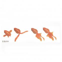 Самозалепващ стикер за вграждане в епоксидна смола за ръчно рисуван ефект с напластяване златна рибка размер на изображението 64x66 мм