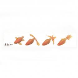 Самозалепващ стикер за вграждане в епоксидна смола за ръчно рисуван ефект с напластяване златна рибка размер на изображението 53x41 мм