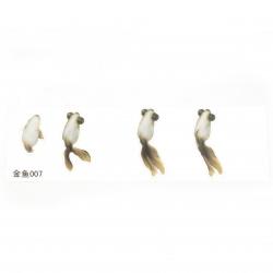 Самозалепващ стикер за вграждане в епоксидна смола за ръчно рисуван ефект с напластяване златна рибка размер на изображението 26x58 мм
