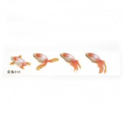 Самозалепващ стикер за вграждане в епоксидна смола за ръчно рисуван ефект с напластяване златна рибка размер на изображението 52x40 мм