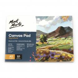 Скицник / албум с грундирано платно за рисуване А5 (14.8x21 см) MM Canvas Pad -10 листа