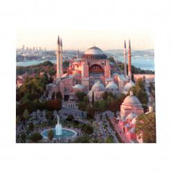 Диамантен гоблен 40x50 см кръгли диаманти пълно облепяне с рамка - Църквата в Истанбул  YSG0334