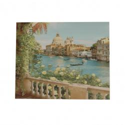 Диамантен гоблен 40x50 см кръгли диаманти пълно облепяне с рамка - Изглед към Венеция YSG1446