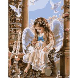 Комплект рисуване по номера 30x40 см - Ангелска любов Ms8524