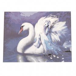 Комплект рисуване по номера 30x40 см - Красив лебед  Ms9007