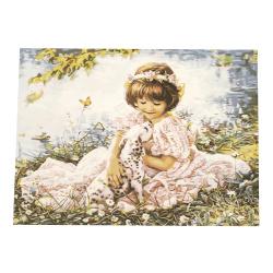 Комплект рисуване по номера 30x40 см - Красиво приятелство  Ms9679