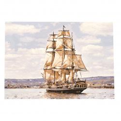 Комплект рисуване по номера 40x50 см -Големият кораб Ms7337