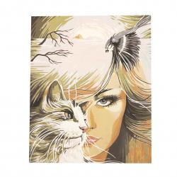 Комплект рисуване по номера 40x50 см -Котката в мен Ms7349