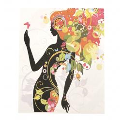 Комплект рисуване по номера 40x50 см -Цветно и шарено  Ms7407