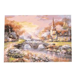 Комплект рисуване по номера 40x50 см -Къща край потока  Ms7434